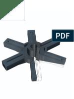 Estrela Com Guia Para Ferramenta 3D
