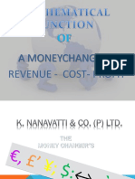 REVENU COST & PROFIT OF MONEY CHANGER
