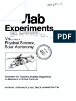 Skylab Experiments. Volume 1 Physical Science, Solar Astronomy
