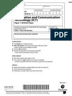 ICT Paper 1 Sample Paper (9-1)