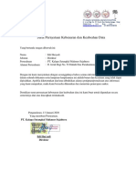 Surat pernyataan Keabsahan data