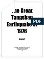 The Great Tangshan Earthquake of 1976 Volume 1