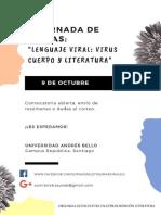 Afiche II Jornada Letras