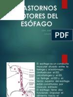 TRASTORNOS MOTORES DEL ESOFAGO -CATO