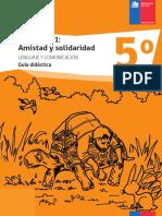 (Lenguaje y Comunicación 5º. Módulo №1_ ) -Amistad y solidaridad. Guía didáctica