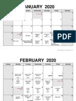 19-20 second semester schedule