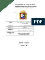 informe mantenimiento