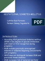 GESTASIONAL DIABETES MELLITUS simposium