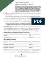 3 upline approval updated form 2017