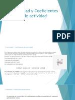 Actividad y coeficientes de actividad