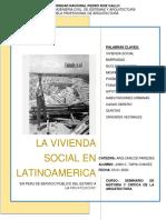 Vivienda Social en Latinoamerica -Jhan c. Tapia