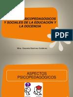Aspectos Psicopedagógicos y Sociales