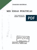 Mis ideas políticas - Charles Maurras (V)