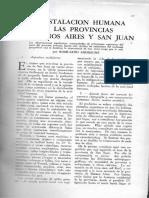 La instalación humana en las provincias de Buenos Aires y San Juan / Ardissone. Romualdo