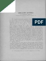 Educación estética / Nelson, Ernesto