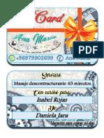 gift card para isabel rojas