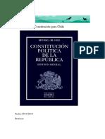 Una Nueva  Constitución para Chile trabajo de historia 132412421