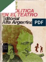 Bertolt Brecht - La política en el teatro-Editorial Alfa Argentina (1972)