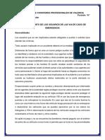COMPORTAMIENTO DE LOS USUARIOS DE LAS VIA DE CASO DE EMERGENCIA