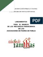 LINEAMIENTOS PARA EL MANEJO DE LOS RECURSOS FINANCIEROS