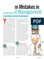 Top 10 Mistakes in CMS Implentation