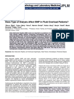 Does Type of Dialysis Affect BNP in Fluid Overload Patients?