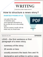 NEWS WRITING AND HEADLINING