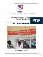 DISASTER RISK REDUCTION MANUAL