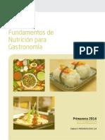 FUNDAMENTOS DE NUTRICIÓN PARA GASTRONOMÍA