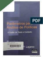 Lejano - 2012 - Parâmetros para análise de políticas_ A fusão de texto e contexto