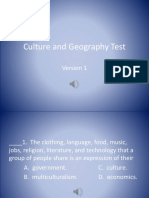 Culture and Geography Test Version