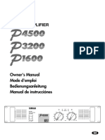 Yamaha P1600 Amplifier User Manual