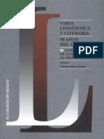 Varia lingüística y literaria 50 años del CELL  II. Literatura de la edad media al siglo XVIII