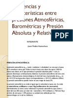 Diferencias y características entre presiones Atmosféricas, Barométricas