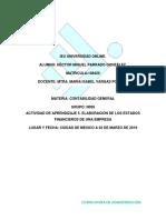 Actividad de Aprendizaje 5. Elaboración de Los Estados Financieros de Una Empresa