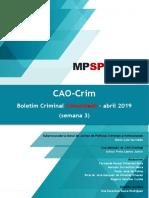 boletim CAOCrim abril -3.2019