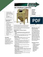 BNP 250 & 260 Wetblast Cabinets