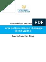 Guía Comunicación y lenguaje Español 2o basico