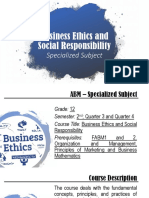 Introduction to Business Ethics and Social Respponsibility