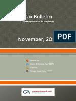 Tax Bulletin - October 2019 - 18th Edition