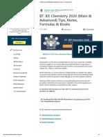 IIT JEE Chemistry 2020 (Main & Advanced) Tips, Notes, Formulas & Books.pdf