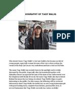 THE BIOGRAPHY OF TAQY MALIQ