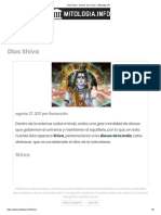 Dios Shiva - Dioses de la India