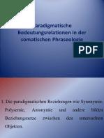 Paradigmatische Bedeutungsrelationen in der somatischen Phraseologie.ppt