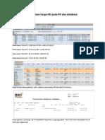 Perbedaan harga HO pada PO dan database