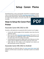 How to Setup Canon Pixma Mg2922-Converted