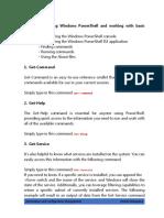 Basic Commands for Powershell
