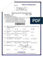 CBSE Maths Sample paper based on CBSE pattern. Sample Paper for 2014 Class IX By CBSEGuess Expert Mr. SHIVANSHU ATREY
