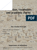 Definition, vocabulary and academic clarity-1