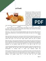 Essay on Junk Food